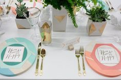 Geometry in wedding decor
