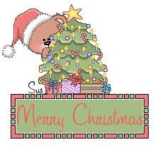 Teddy Santa wishing you - Merry Christmas animated lights
