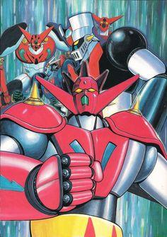 Getter Robo, Getter Robo G, & Mazinger Z by Go Nagai