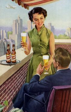 Just ignore that plane and drink your beer!