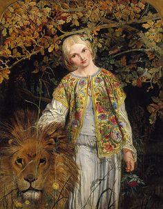 Una and the Lion, William Bell Scott