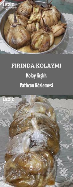 Fırında Kolaymı Kolay Kışlık Patlıcan Közlemesi Turkish Recipes, Ethnic Recipes, Cooking Cake, Arabic Food, Iftar, Great Recipes, Frozen, Pasta, Food And Drink