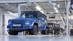 """Magna-Steyr's Austrian factory behind the Mercedes-Benz G-Class has reached a milestone after producing the 300,000th example of the boxy, brick of an off-road SUV. We say """"boxy"""" and """"brick"""" lovingly because there's no confusing the G-Class for anything else, which is likely one of the reasons why…"""