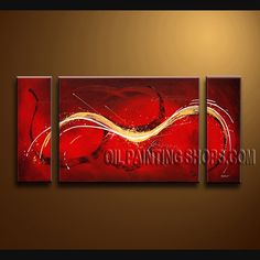 Enchant Modern Abstract Painting Artist Oil Painting For Bed Room Abstract. This 3 panels canvas wall art is hand painted by Bo Yi Art Studio, instock - $154. To see more, visit OilPaintingShops.com