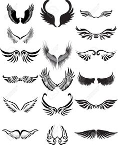 Wings silhouette collection (angel, wing, tribal)