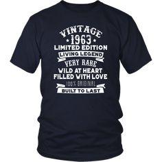 Vintaged 1963 Living Legend Built To Last T-Shirt