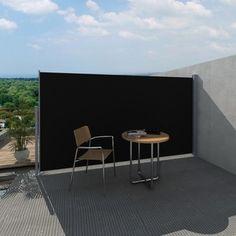 Gezien op beslist.be: Uittrekbaar wind- / zonnescherm 160 x 300 cm (zwart)