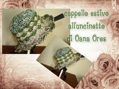 cappello rafia all'uncinetto - YouTube