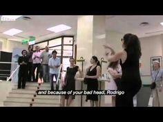BBC News - A flamenco flash mob performance in a Spanish bank