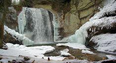 Looking Glass Falls waterfall near Asheville NC