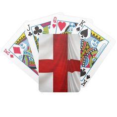 England';s St George Cross Patriotic Flag Bicycle Card Deck