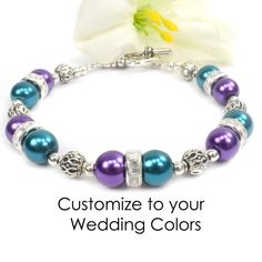 gorgeous bridesmaid gift - personalized to wedding color
