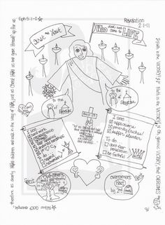 Bible Doodle Study Guide for Revelation 2:1-11- Jesus' Messages to Ephesus and Smyrna by BibleDoodles on Etsy