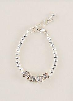 Simple Silver Name Baby Bracelet