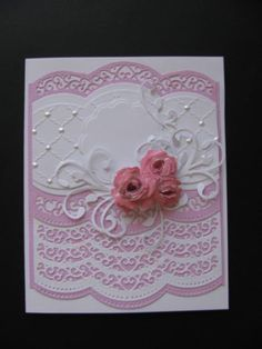 Rosey Pink by genistamps - Cards and Paper Crafts at Splitcoaststampers