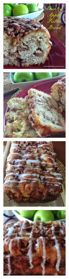Awesome Apple Fritter Bread http://www.thebakingchocolatess.com/awesome-country-apple-fritter-bread/