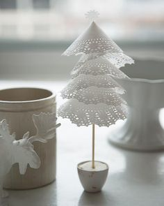 This delicate #DIY paper-doily tree couldn't be sweeter — or easier to make.