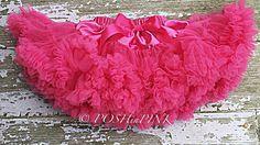 Hot pink chiffon pettiskirt, kids, petti skirt,holiday, Birthday, cream, baby, chiffon girls skirt, toddler, baby, tulle, tutu