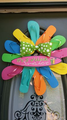 Hey, I found this really awesome Etsy listing at https://www.etsy.com/listing/190372277/flip-flop-wreath-with-polka-dot-bow-and