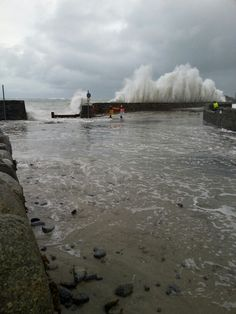 Guernsey Storm at Perelle 04/01/2014