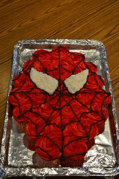 Spiderman Cupcake Cake