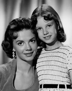 """Natalie Wood with sister Lana Wood for """"The Searchers,"""" 1956."""