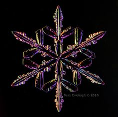 Dec 18, 2010  Yes, it's a real Canadian snow crystal. Used a dark field lighting technique to get the colors (NOT added later in post processing).