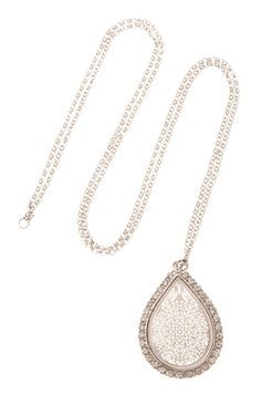 Primark - Silberne Halskette mit Tropfen-Anhängern 3€