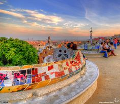 海外旅行世界遺産 グエル公園 アントニ・ガウディの作品群の絶景写真画像ランキング  スペイン