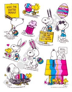 Snoopy Easter stickers via Piscoletters Shop. Click on the image to see more!