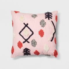 Complete your bohemian-styled space with this Pink Tufted Throw Pillow from Opalhouse™. This light pink throw pillow features textured tufting throughout that gives it a bold pop. Add it into a decorative basket as an accent piece, or layer it with other toss pillows on your sofa for an eclectic, layered look. However you arrange it, you'll love the unique, stand-out style it gives your room. <br><br>This is your house. Where you create spaces as bold as your spirit. ...