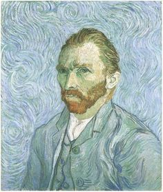 Vincent Van Gogh, Self Portrait, 1889.  This is in the Musee d'Orsay in Paris.  The photo doesn't do the true color justice.  To see it in person is absolutely mesmerizing.  I could sit and look at it for hours, and every minute, find a new detail to appreciate.