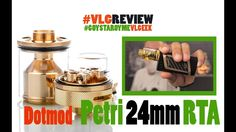 Petri 24mm RTA by Dotmod - Vapelikegeek Greek review Petri 24mm RTA by Dotmod το site της εταιρειας για πληροφοριες https://dotmod.com/ Τον πηρα απο http://bit.ly/Petri24mm και ειμαι πολυ ευχαριστημενος με αυτην την αγορα  ειναι καταπληκτικος RTA και μου δινει την αισθηση που θελω στο ατμισμα 24mm Diameter Expanded Juice Capacity Superior Quadruple 24K Gold-Plated Finish Solid Brass Construction Pyrex Glass Reinforcement Innovative Postless Quad Terminal Design Two PEEK-Insulated Positive…