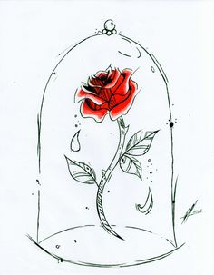 Beauty And The Beast Rose Tattoo, Enchanted Rose, Tatting, Tattoo Designs, Skull Drawings, Art Pieces, Doodles, Journal Ideas, Wallpaper