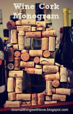 Small Things: Wine Cork Monogram