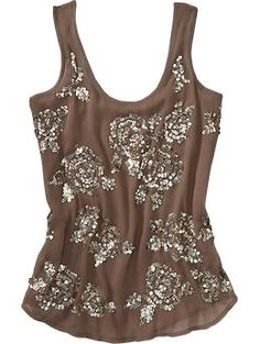 The sequin floral patterns on this tank are bunches of fun.