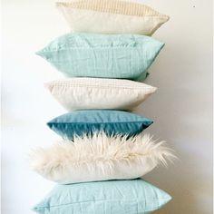 Pack 6 almohadones Everything® aqua y crudo Toss Pillows, Diy Pillows, Decorative Pillows, Inspire Me Home Decor, Room Goals, Room Interior Design, Dream Rooms, New Room, Pillow Covers