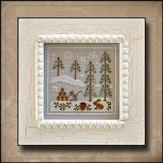 Frosty Forest 4-Snowy Friends by Country Cottage Needleworks