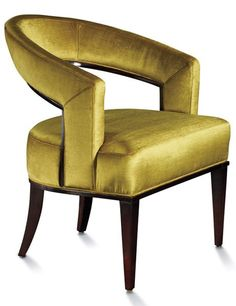 Councill's Palladian chair. With an aubergine-finished maple frame, it comes in a selection of fabrics, including the lush citrine velvet pictured.