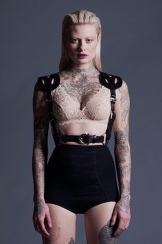 Zana Bayne Leather — SS14 Lattice Harness, honestly I'm stuck on the model rather than the harness. Her look is just...wow