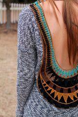 Crochet open back top
