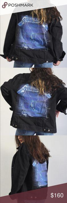 Black vintage denim jacket with Metallica patch Black vintage denim jacket with Metallica patch Yeezy Jackets & Coats Jean Jackets