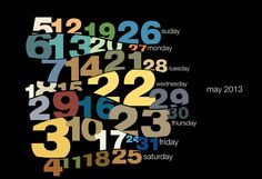 Typography calendar 2013 by Sudhir Kuduchkar, via Behance