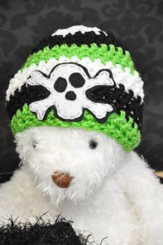 Skull N Bones Crochet Hat by JLloPhotographyProps on Etsy, $25.00
