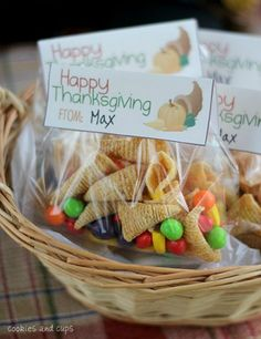 Bugle Cornucopias Thanksgiving Bag Toppers and FREE Thanksgiving crafts for kids on Frugal Coupon Living