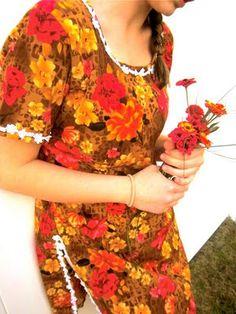 vintage floral dress  #FlowerShop