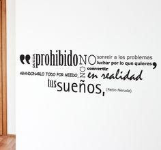 Vinilo decorativo sueños Neruda