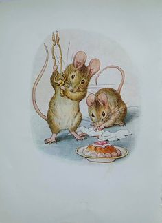 1950's Vintage 'The Tale Of Two Bad Mice' 'Tom | Etsy Postcard Printing, Beatrix Potter, Wild Birds, All Print, Mice, Vintage Prints, 1950s, The Originals, Artwork