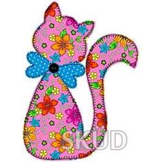 gato // Maria L. Applique Templates, Applique Patterns, Applique Quilts, Applique Designs, Embroidery Applique, Machine Embroidery Designs, Quilt Patterns, Sewing Patterns, Owl Templates