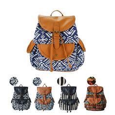 Vintage Women's School Bag Canvas Backpack Bookbag Rucksack Satchel Travel Bags in Clothing, Shoes & Accessories, Women's Handbags & Bags, Backpacks & Bookbags | eBay